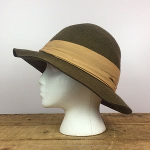 Vintage Accessories - Vintage wool hat fedora ribbon